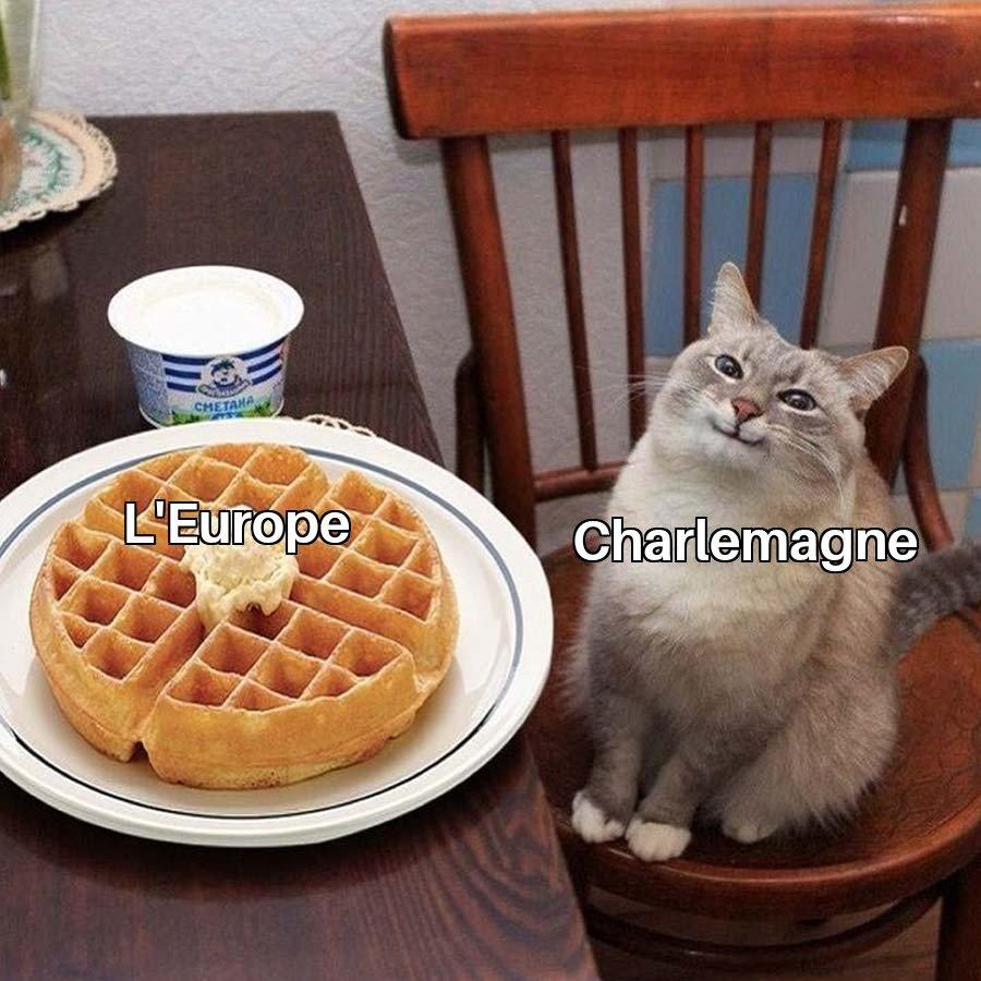 Meme sur Charlemagne et l'Europe