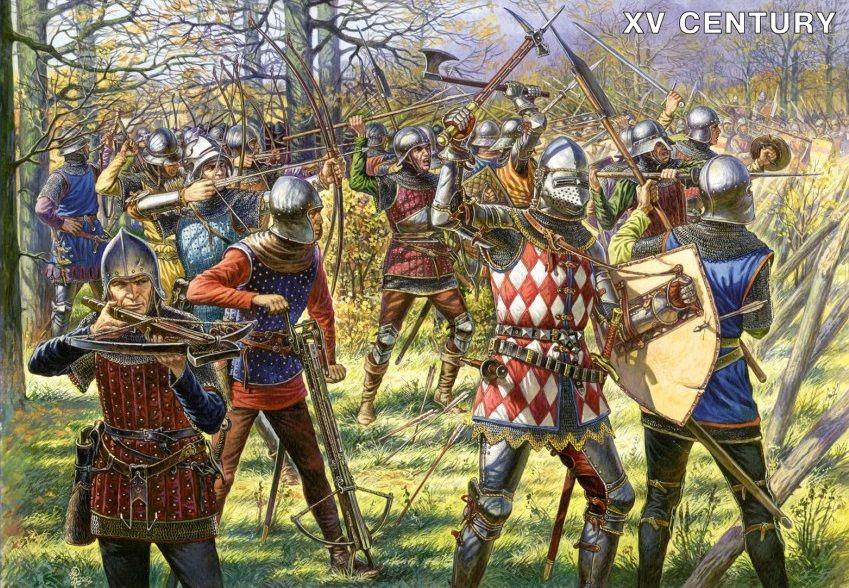 Bataille guerre de cent ans, rase campagne