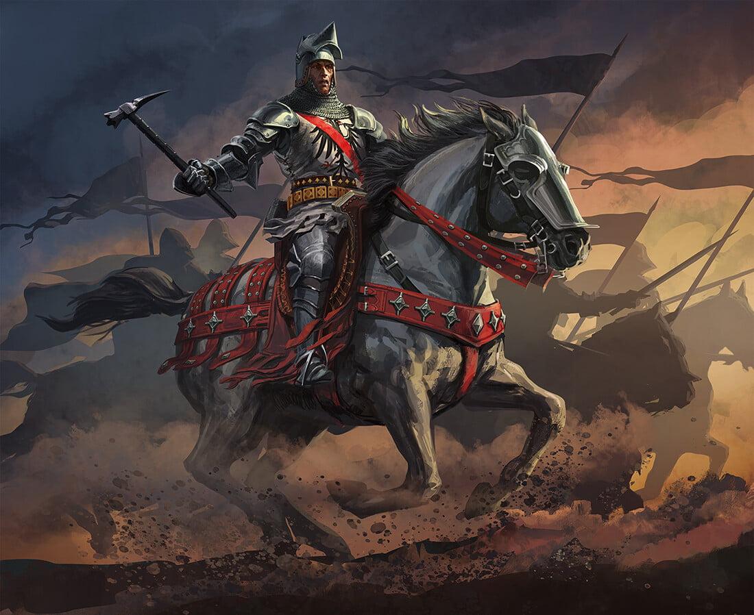 Bertrand Du Guesclin à cheval