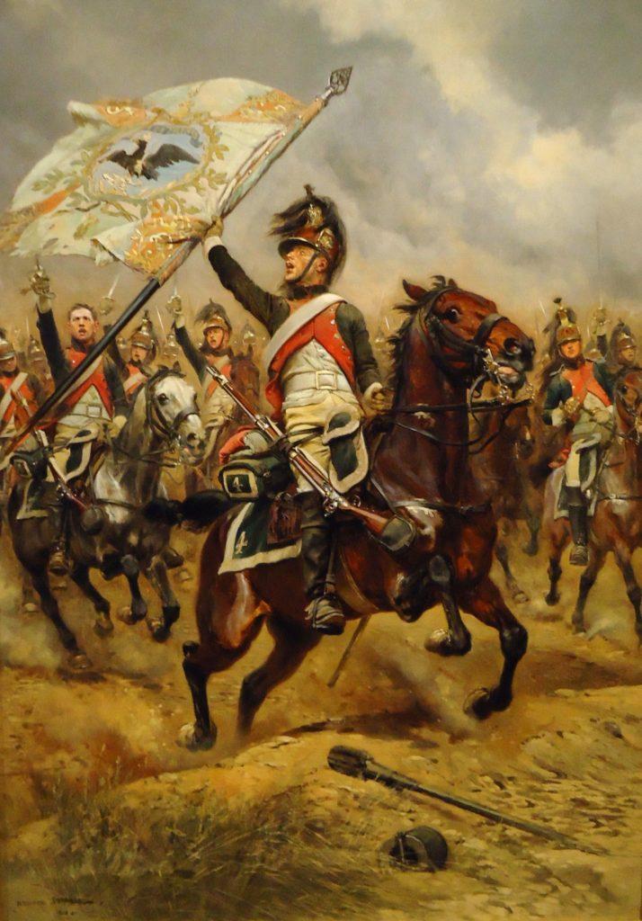 Dragon caputre drapeau autrichien à la bataille de Iéna