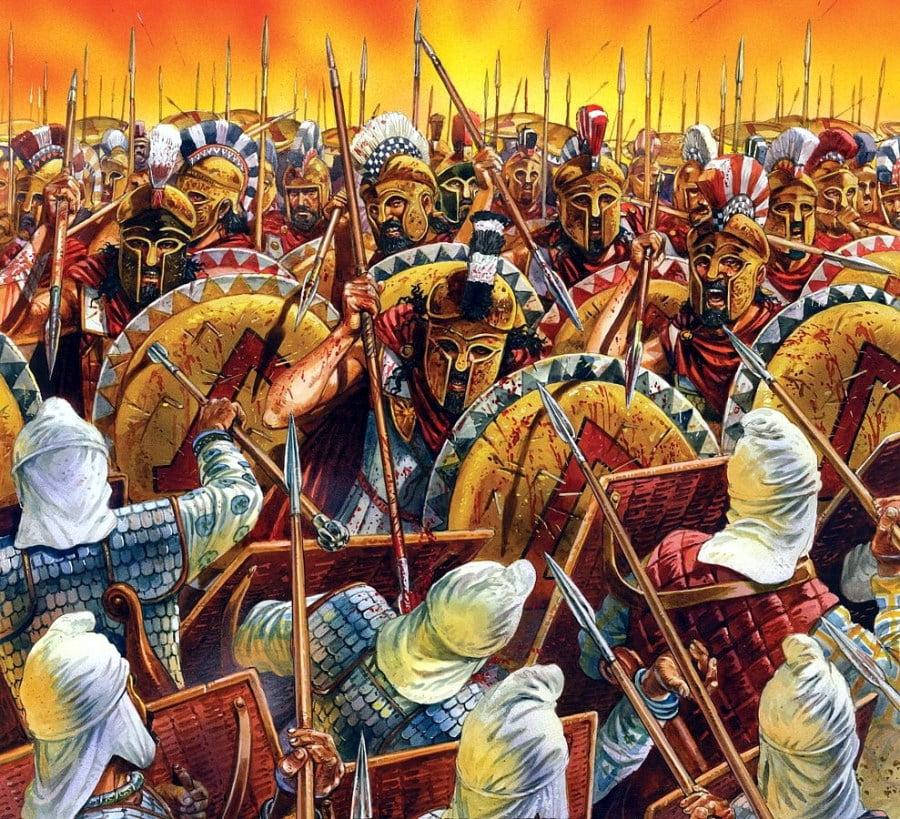 Hoplites à la bataille des Thermopyles