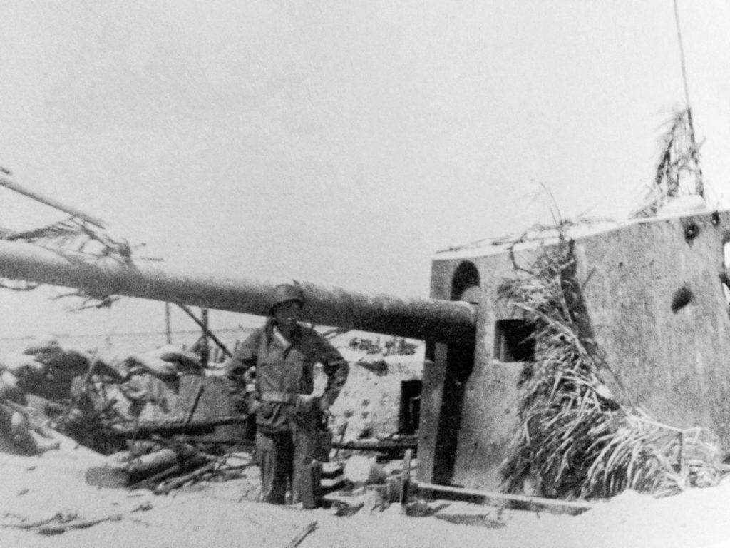canon japonais de 14cm tarawa