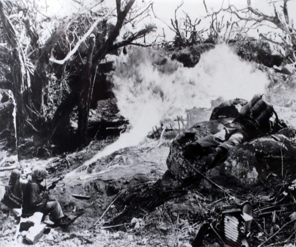 lance flammes bataille de tarawa