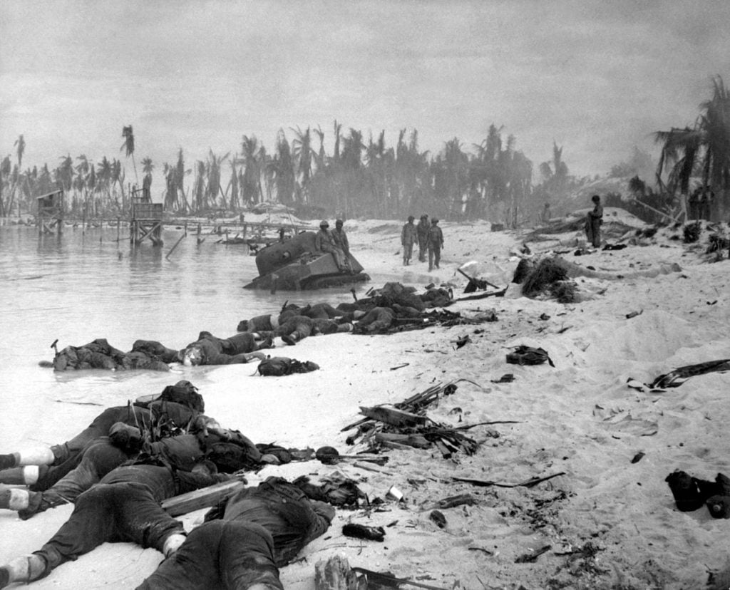 plage de la bataille de tarawa