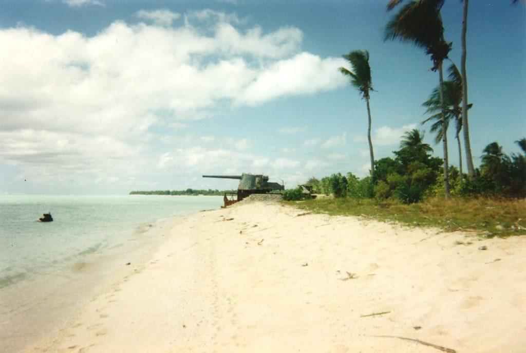 plage de tarawa artillerie japonaise