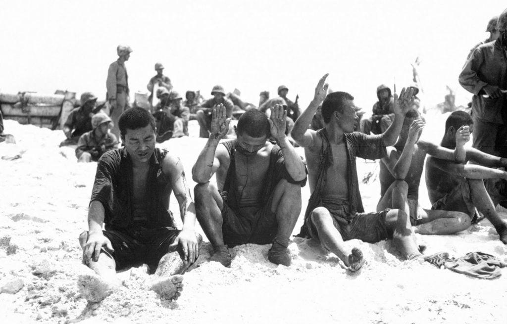 prisonniers japonais bataille de tarawa