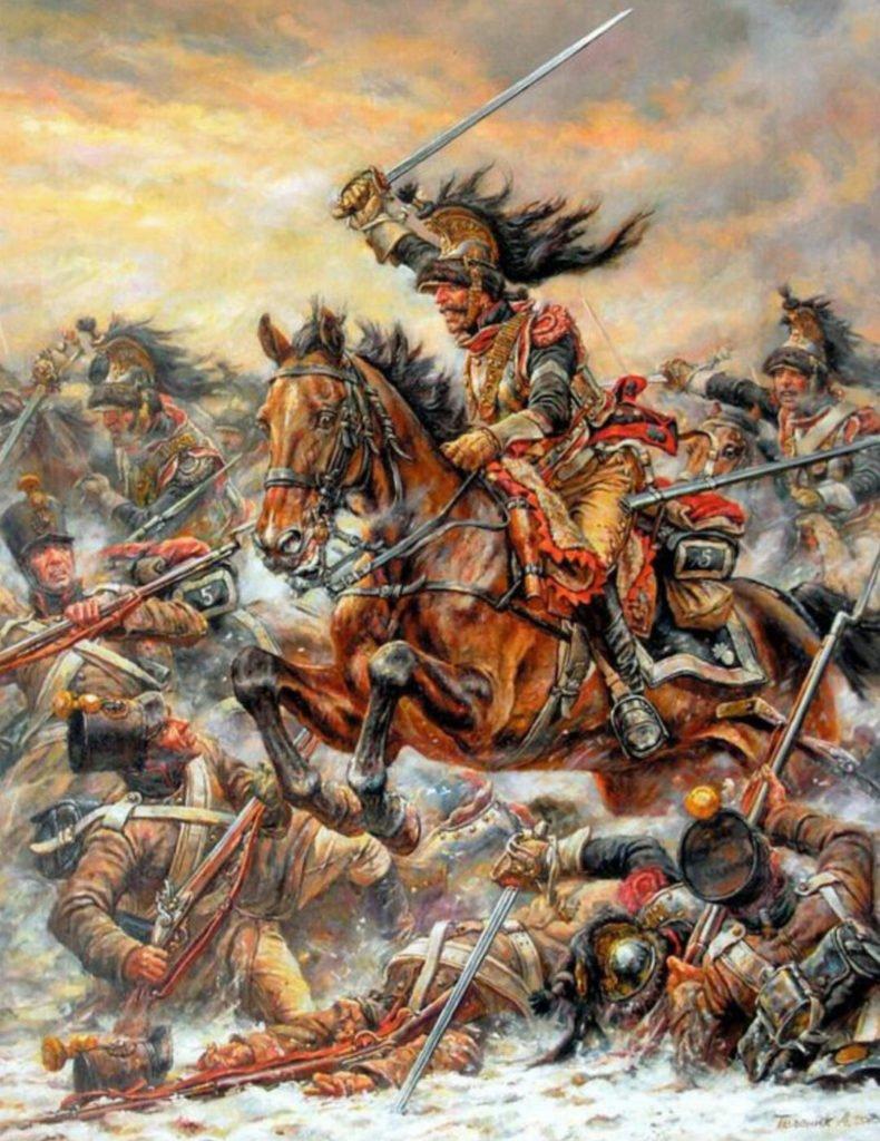 Charge du général d'Haupoul à Eylau