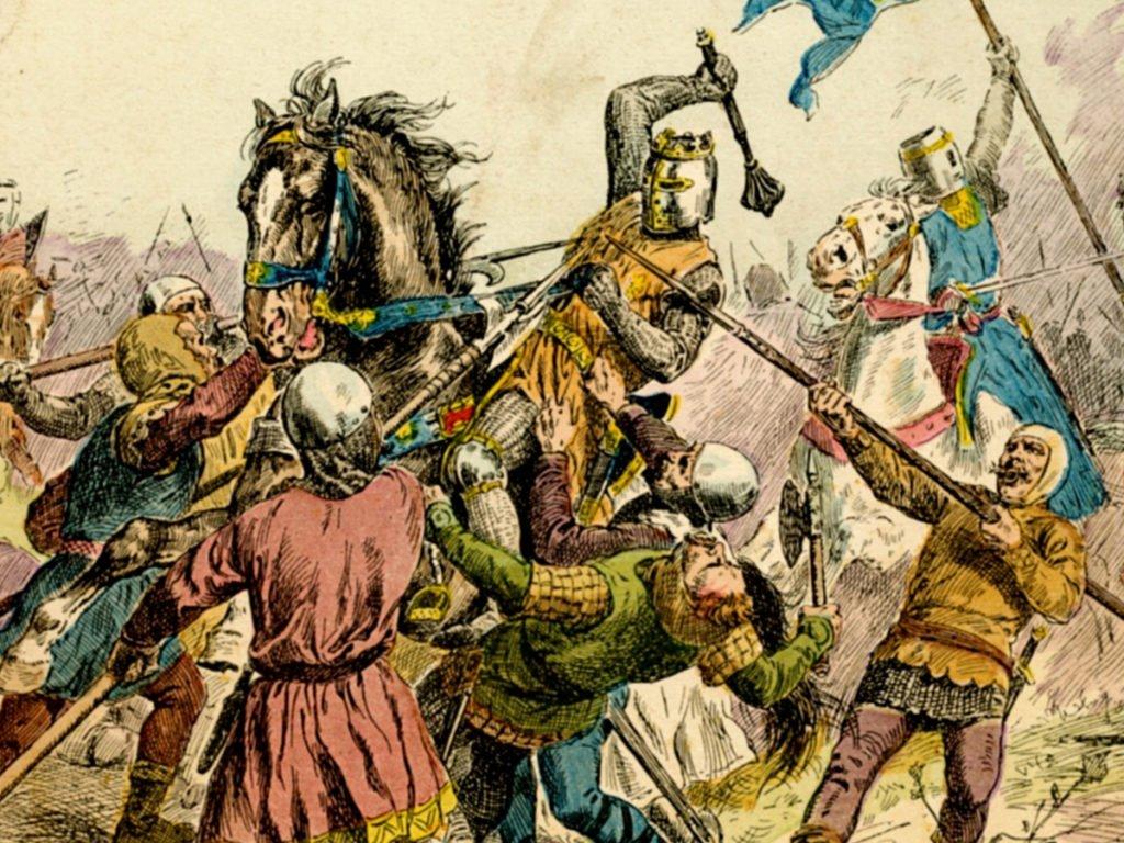 Bouvines, l'empereur allemand est quasiment capturé et perd son aigle