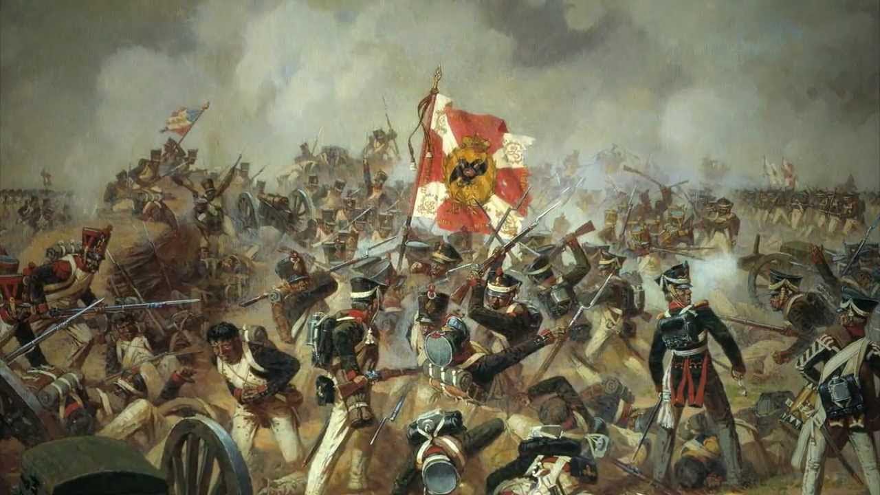 Combat entre russe et français à la bataille de la Moskova