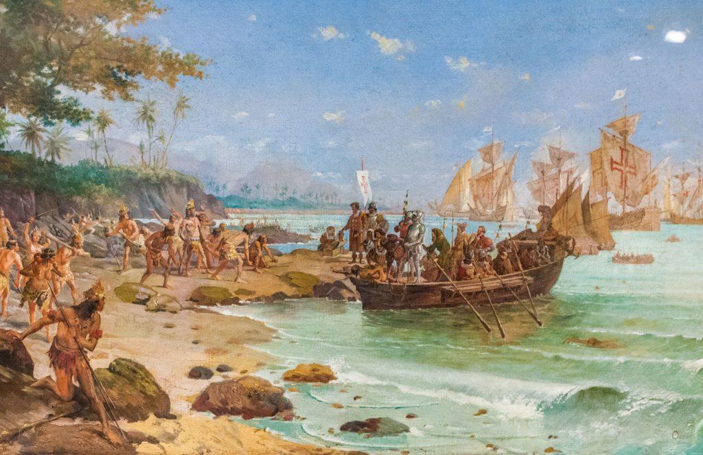 Débarquement des colons portugais au Brésil