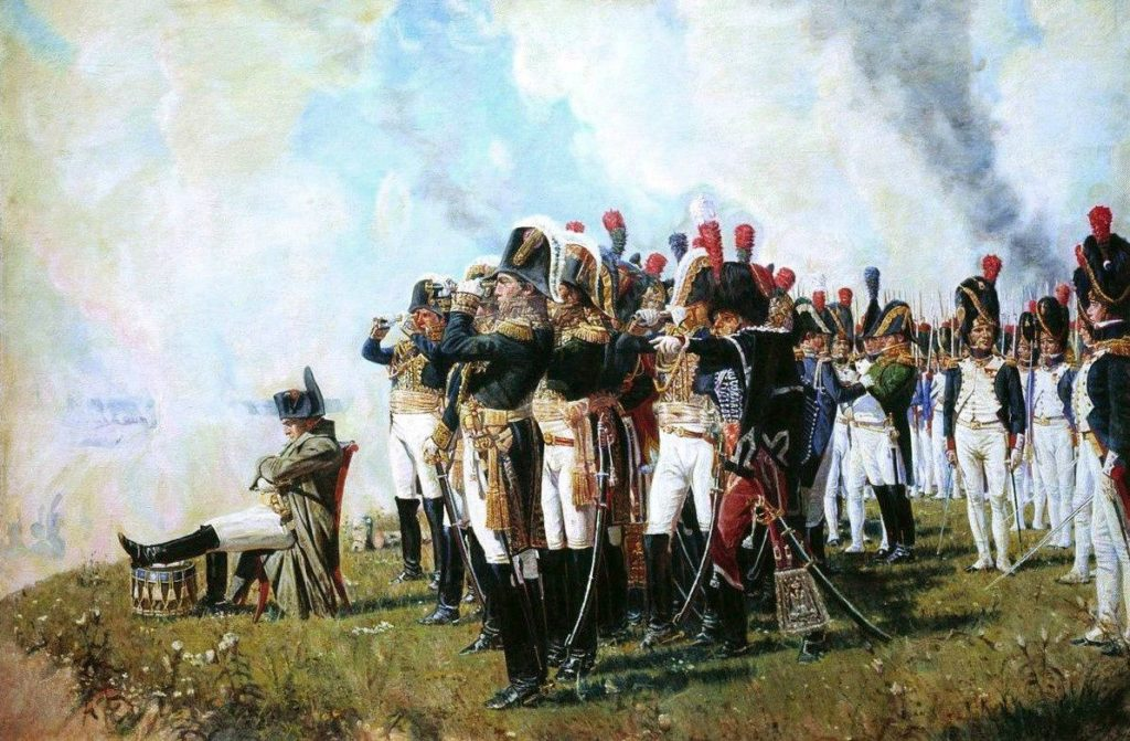 Etat major français à la bataille de la Moskova