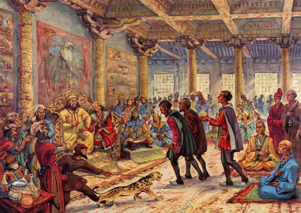 Marco Polo et Kublai Khan