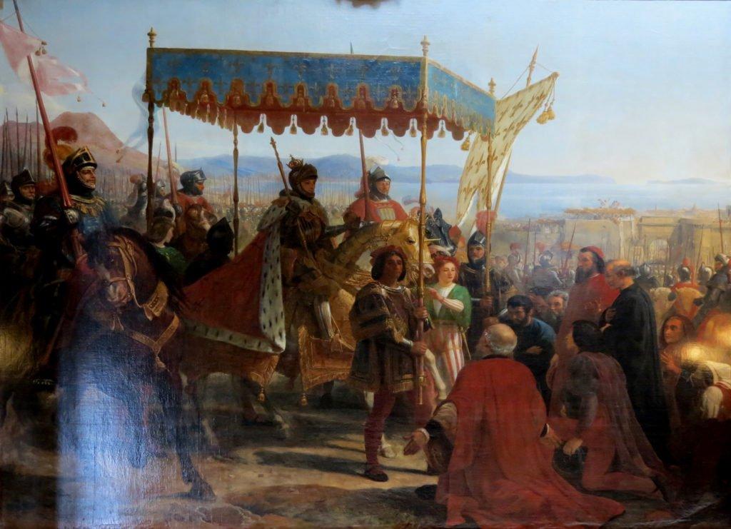 Arrivé triomphale de Charles VIII à Naples