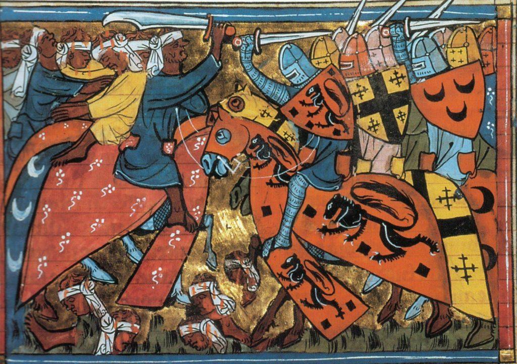 Croisade des chevaliers lors du siège d'Acre