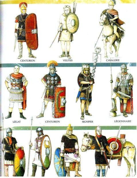 troupes de la légion romaine