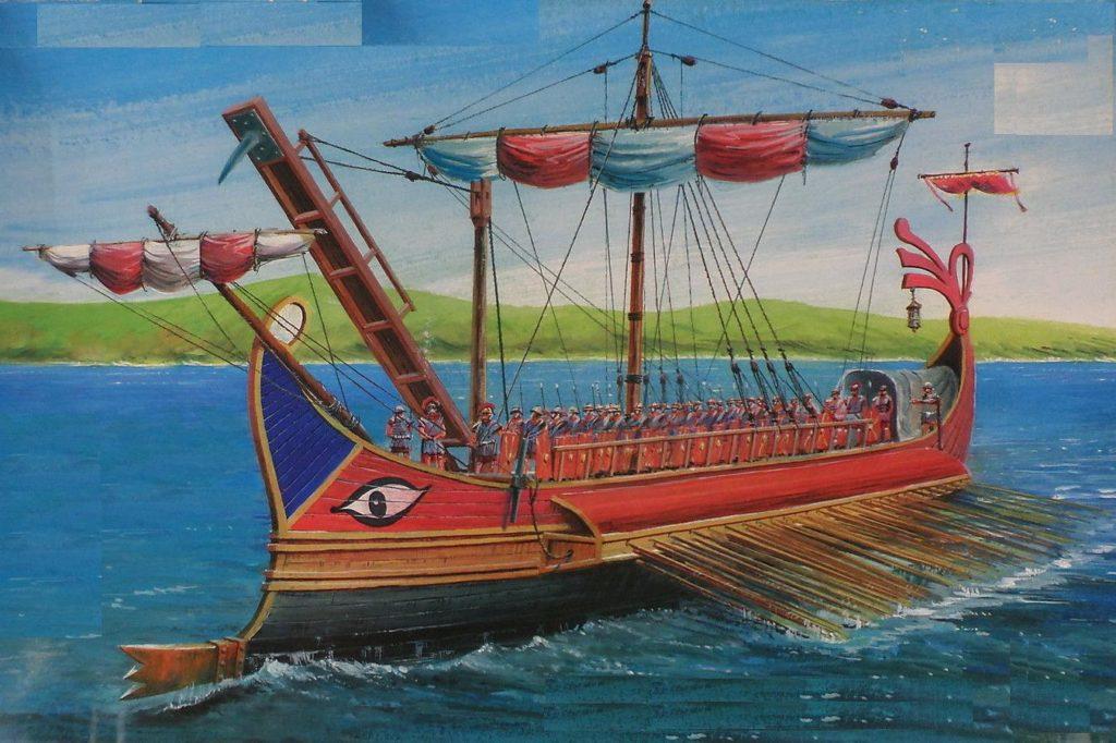 trirème de la marine romaine