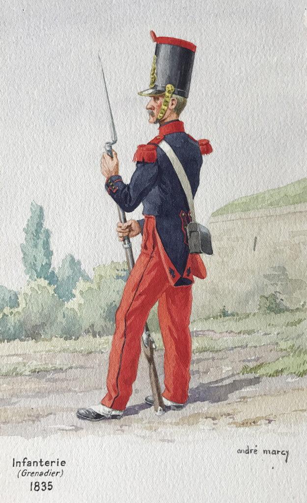 1835 Uniformologie grenadier