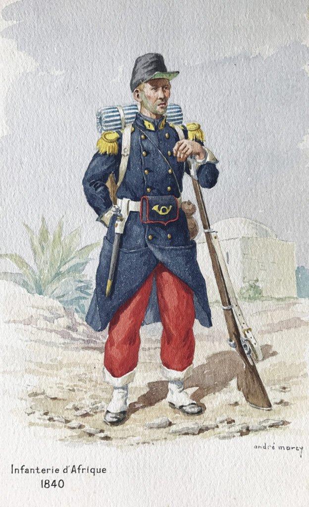 1840 uniformologie infanterie d'afrique
