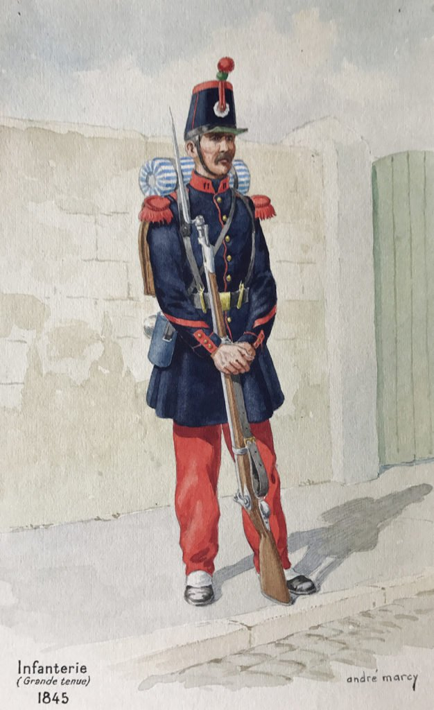 1845 Infanterie grande tenue