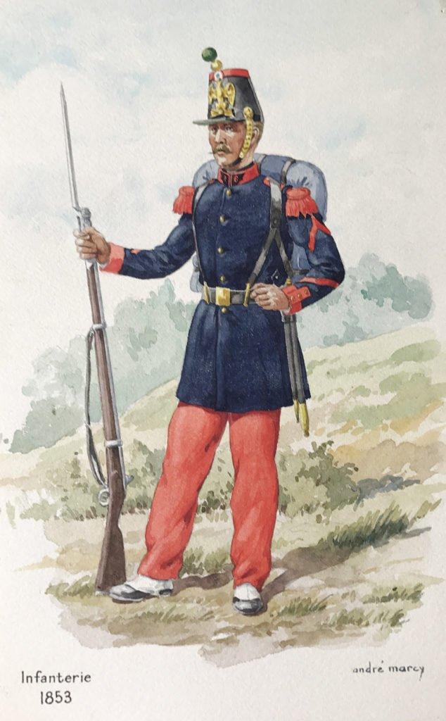 1853 uniformologie infanterie second empire