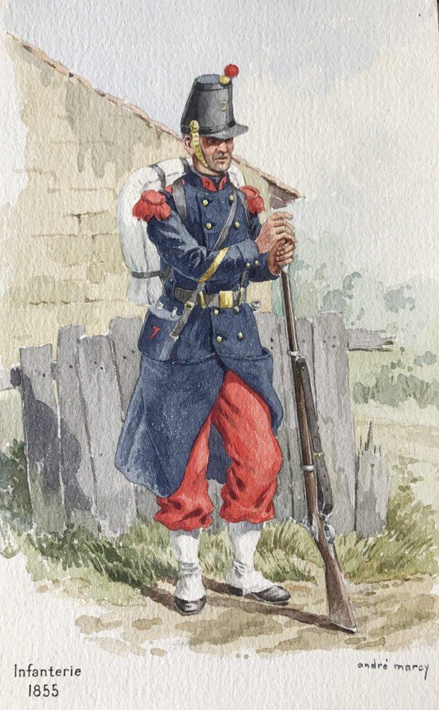1855 infanterie armée française