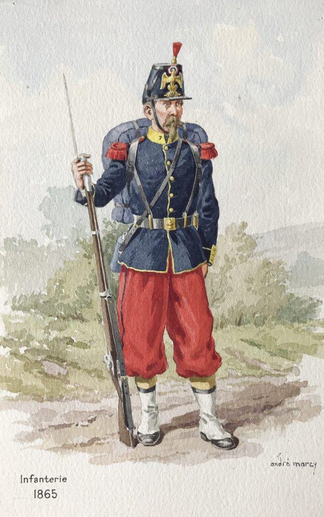 1865 - Infanterie française