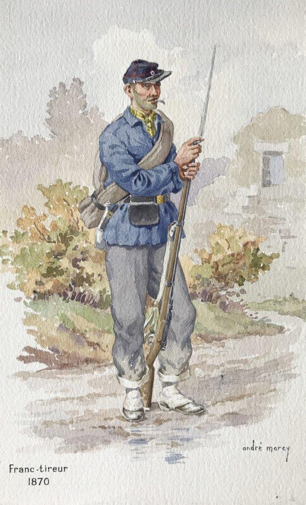 1870 Franc tireur