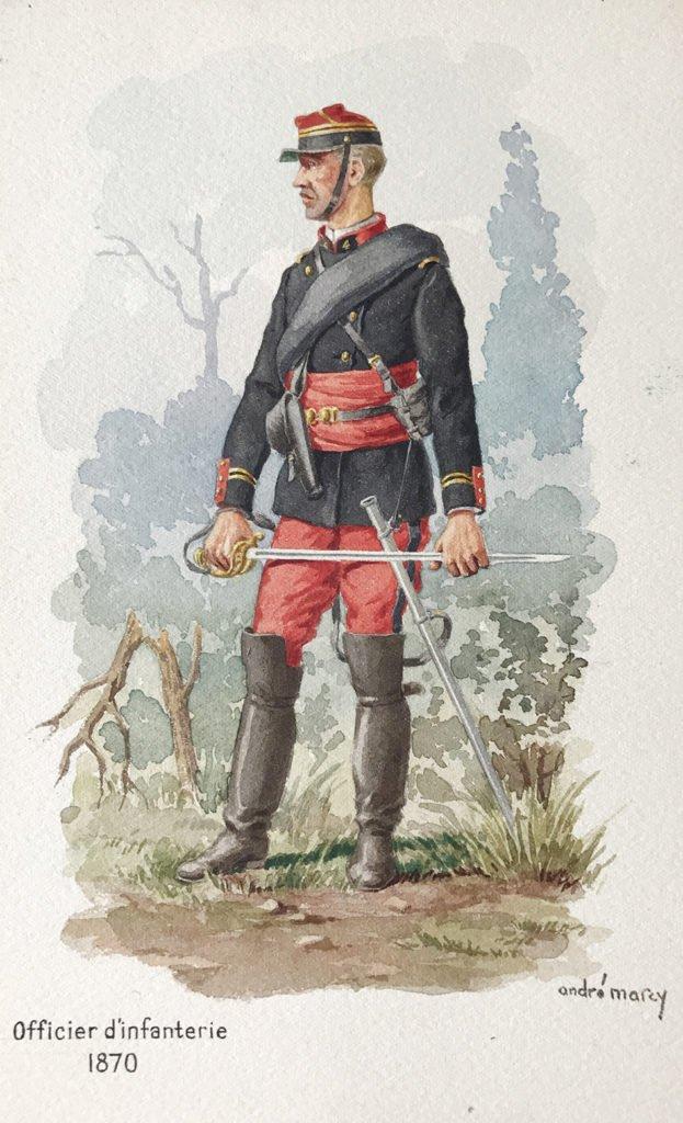 1870 officier d'infanterie