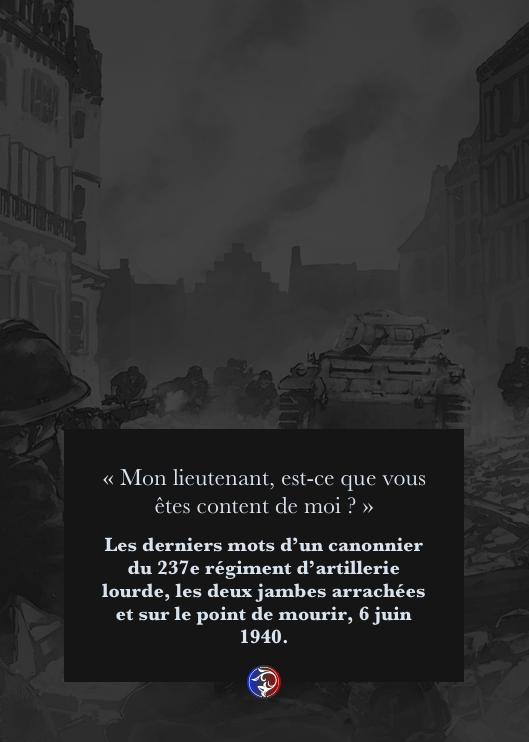 1940, témoignage de la bataille de France