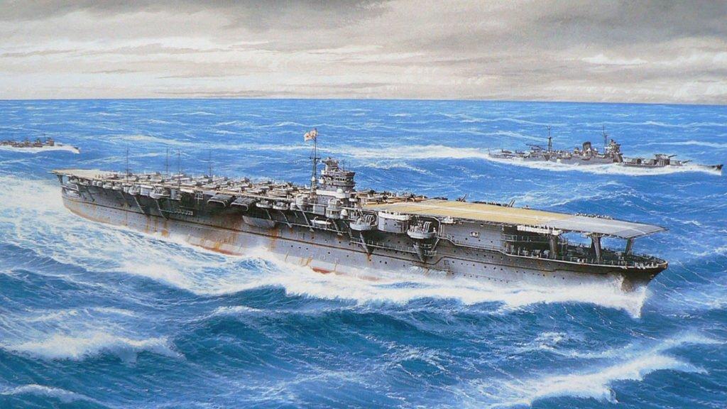 Le Shokaku à la bataille de la Mer des Philippines